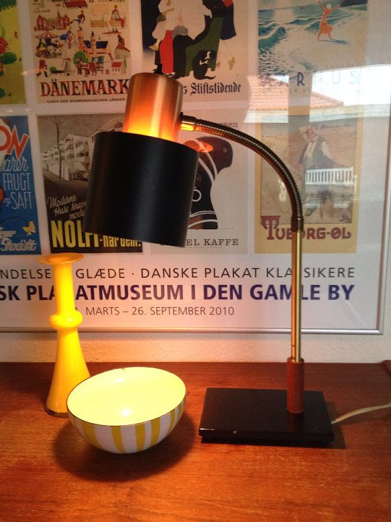 Jo hammerborg copper beta tablelamp, desk fog morup Classic  on Etsy, 2.400,00 kr