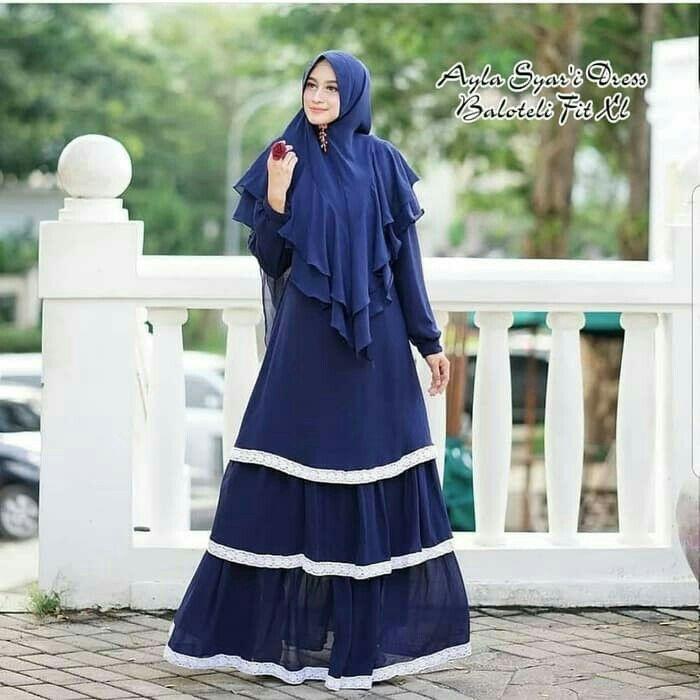 Jb AYLA DRESS ( tanpa khimar ) AQ001 Harga 113.000 Berat barang : 500gr Bahan balotelly mix renda Ukuran all size fit to L Informasi dan pemesanan hubungi kami SMS/WA +628129936504 atau www.ummigallery.com Happy shopping #jilbab #jilbabbaru #jilbabpesta #jilbabmodern #jilbabsyari #jilbabmurah #jilbabonline #hijab #Kerudung #jilbabinstan #Khimar #jilbabterbaru #jilbab2018 #jilbabkeren #jilbabmodis #bajumuslim #gamis #syari #maxidress #maxi #atasanwanita #atasanmuslim