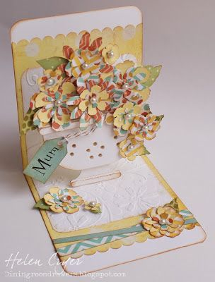The Dining Room Drawers: Flower Birthday Card