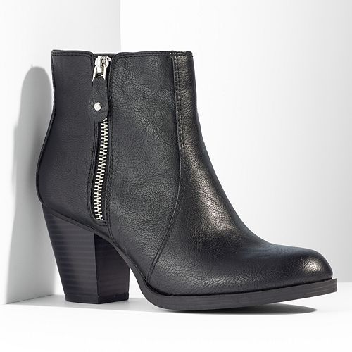 Simply Vera Vera Wang Zipper Ankle Boots - Women