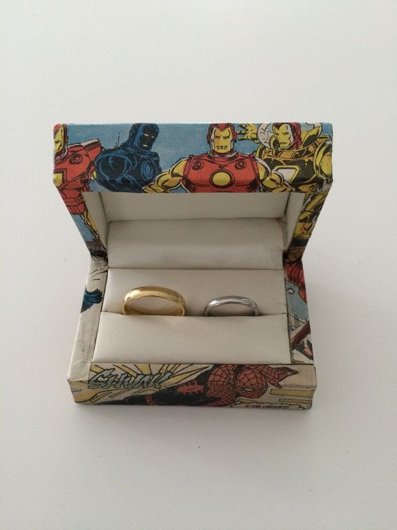 Superhero wedding ring box by FunFonts on Etsy