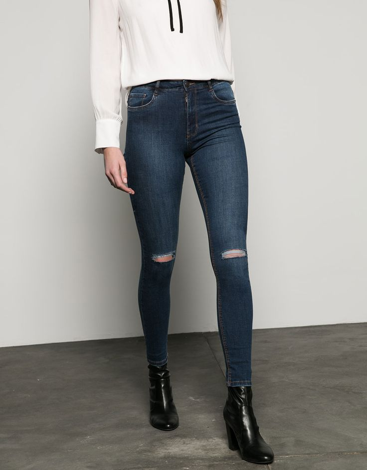 Jean Skinny high waist - High Waist - Bershka Netherlands