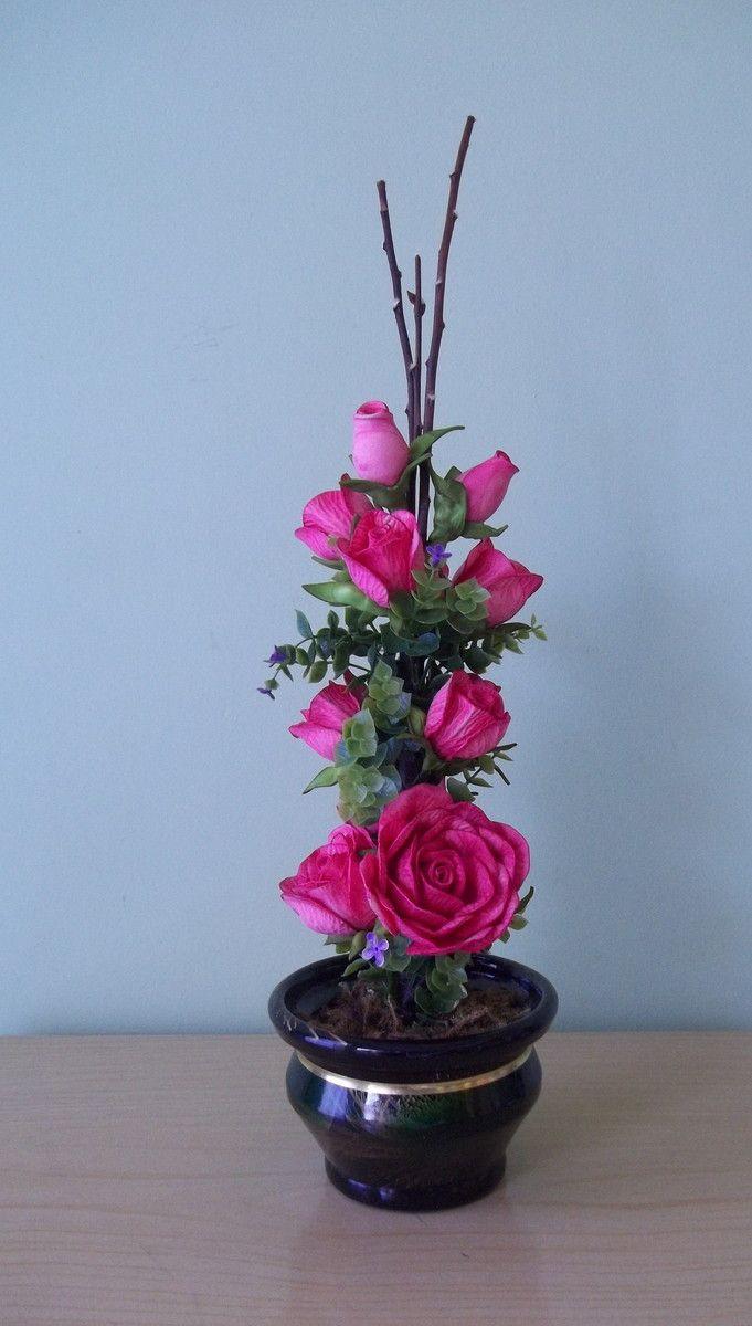 Arranjo de Flores em Eva   Idéias e Cores Decor   Elo7