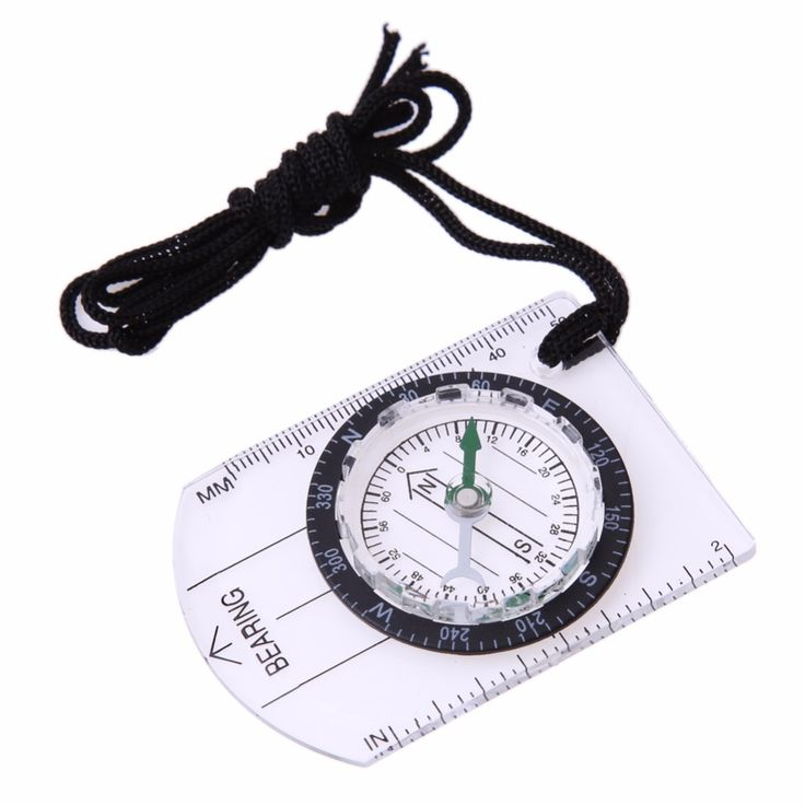 1pcs Portable Compass Outdoor Hiking Camping Baseplate Compass MM INCH Travel Baseplate Ruler Compass Map