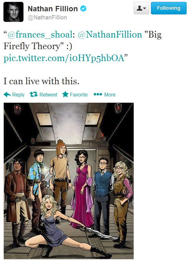 "Nathan Fillion on ""Big Firefly Theory"""