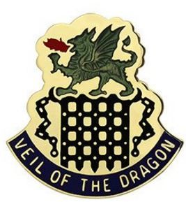 468th Chemical Battalion Unit Crest (Veil of the Dragon)