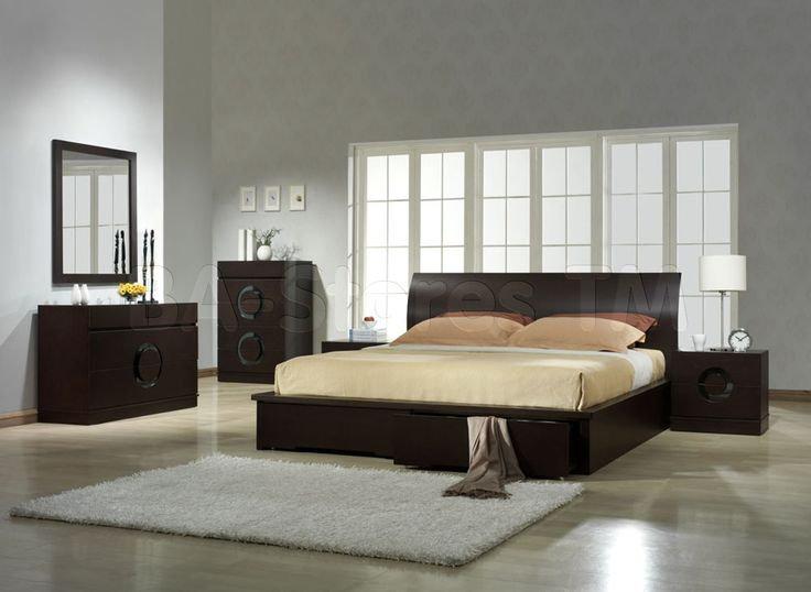 Stylish contemporary bedroom set from Spain collection in black lacquered finish will and walnut look amazing in your modern designed bedroom. Description from moderneurodesign.com. I searched for this on bing.com/images