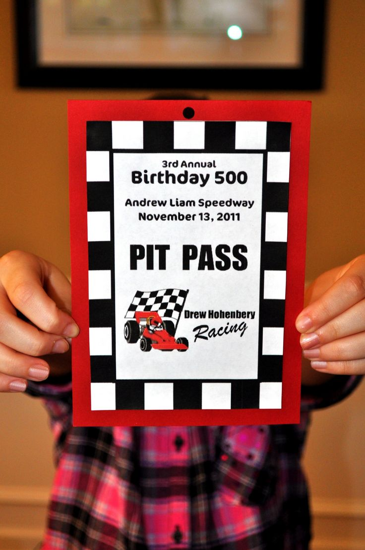 Werdyab Blog: Race Car Birthday Party