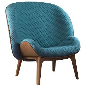 In love with this chair Jean Marc Gady Hug Armchair - a distant cousin of the oldest high wing bergères.