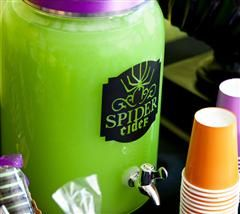 Add a spooky label to your traditional beverage dispenser!