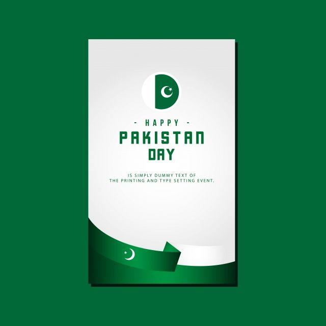 باكستان يوم سعيد تصميم قالب النواقل التوضيح أيقونات سعيدة أيقونات القالب أيقونات اليوم Png والمتجهات للتحميل مجانا Event Badges Pakistan Day Card Banner