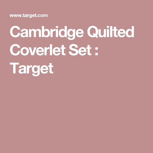 Cambridge Quilted Coverlet Set : Target