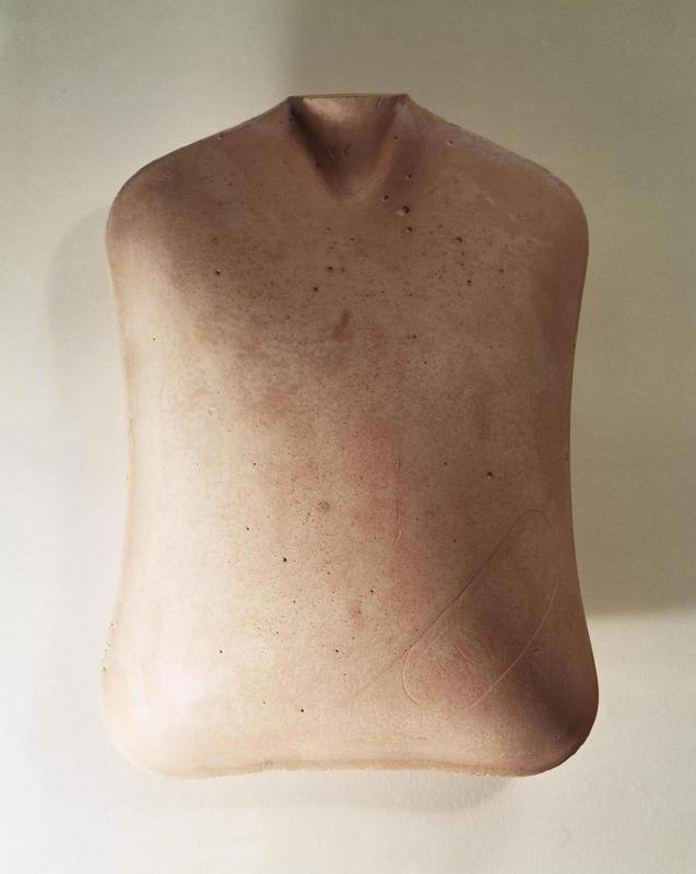 Rachel Whiteread, Pink Torso - beautiful object - cast the inside of a hotwater bottle - the inside space - becoming object - references to us as a vessel - ghost like.