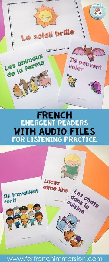 French reading and listening resource: emergent reader books PLUS audio tracks for listening practice! LEVEL A