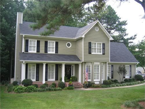 Roof color for sage green house google search house - Popular exterior paint colors 2014 ...