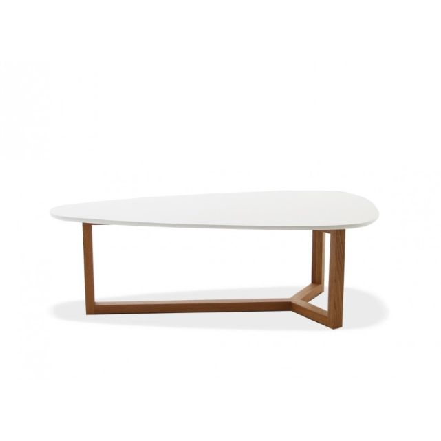 Table basse ovale natura - Table basse ovale blanche ...