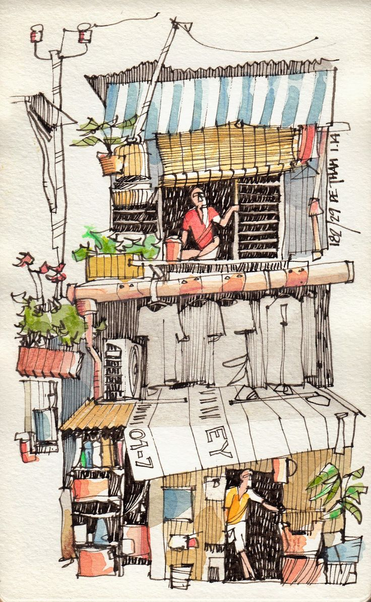 JR Sketches: Vietnam - January 2014 - #4