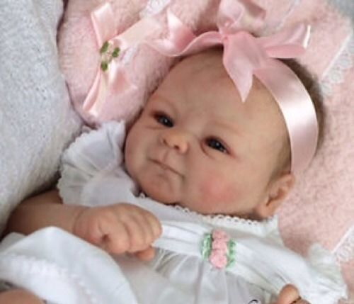 Beautiful Custom Made Reborn Fake Baby Doll from Coco Malu or Ivy kit by Marx