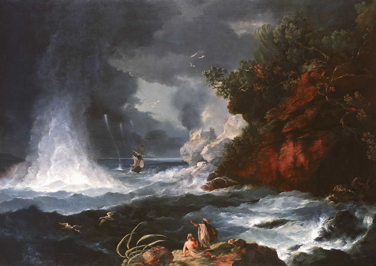HodgesA_View_of_Cape_Stephens_in_Cook's_Straits_New_Zealand_with_Waterspout_1776..jpg (2500×1768)