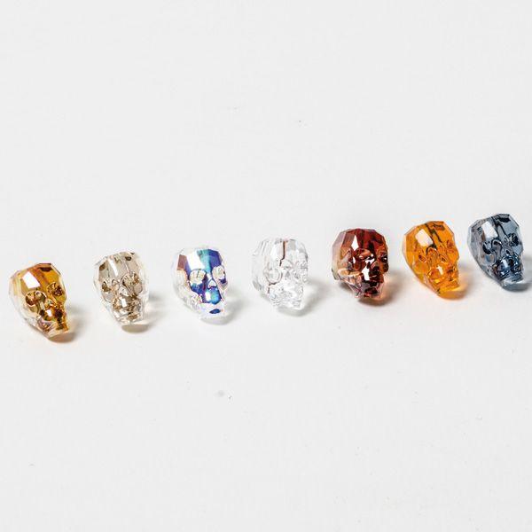 Swarovski Skull Beads - schaurig schöne glitzernde Totenköpfe von Swarovski Elements aus dem Glücksfieber Shop.