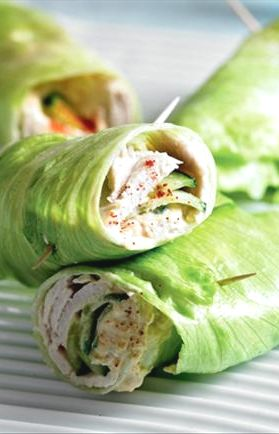 clean and lean lettuce wraps, a nice refreshing alternative to wraps, especially if you are trying to give bread a miss