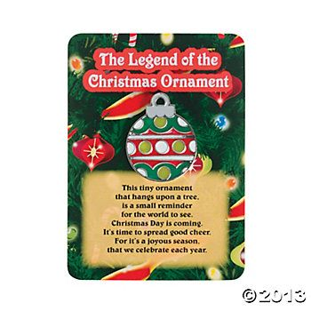 "The Legend of Stocking | The Legend Of The Christmas Ornament"" Pins on Cards - Oriental ..."
