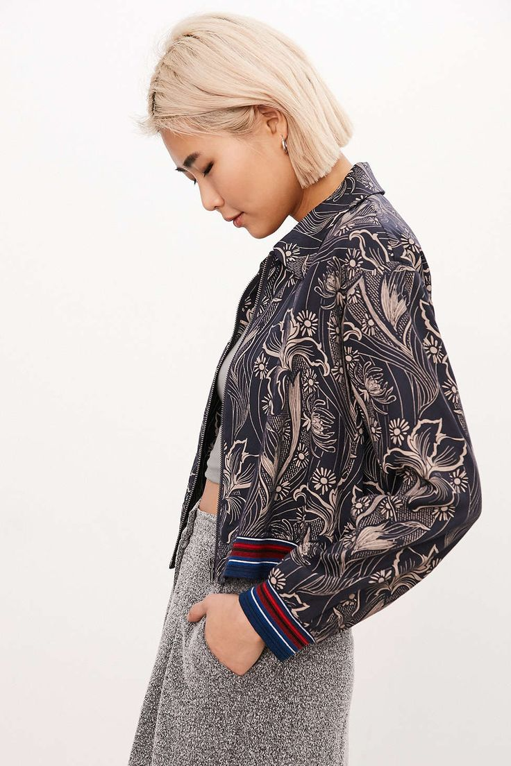 d4b9ad0be Silence + Noise Iris Floral Bomber Jacket | FASHUN | Floral bomber ...