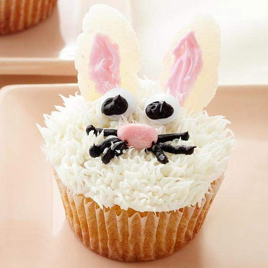 Check out these adorable and easy Easter Bunny Bites. So cute! More fun Easter treats: http://www.bhg.com/holidays/easter/recipes/fun-to-make-easter-treats/#