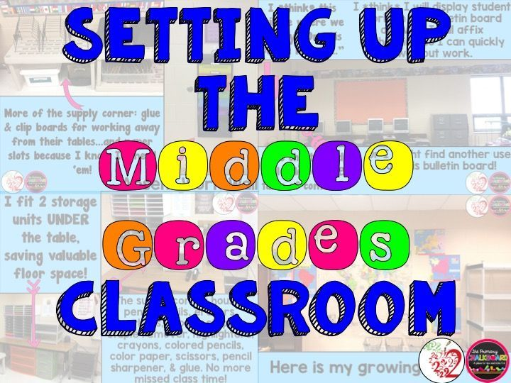 Primary Chalkboard blog post about how to organize and set up a middle grades/school classroom. Included many great ideas!