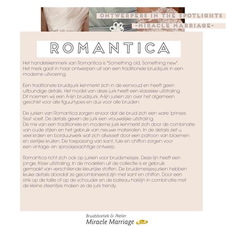 #miracleontwerpers Romantica collection 2016 #trouwen