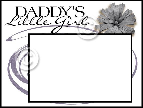 8X6 Picture Frame Daddy's Little Girl by SapphireCustomPhotos, $15.00
