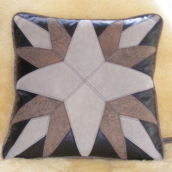 WOW! this goes with gray starburst 1    *western or mariner decor    *Black micro suede back with zipper closure. $85