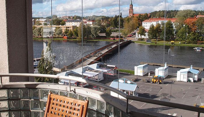 Original Sokos Hotel Seurahuone Savonlinnan keskustassa.