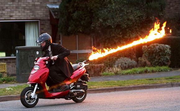FlameThrowing Scooter