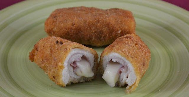 Varomeando: Rollitos de pollo con jamón y queso
