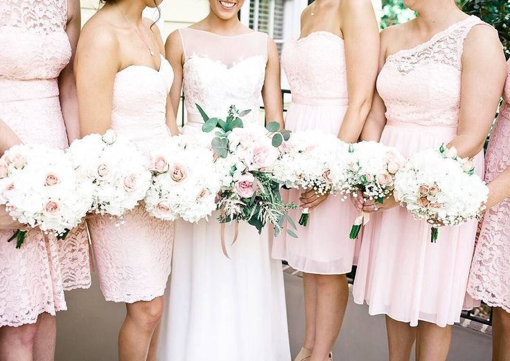 Happy September! This month, we're talking all about color! First up, #Petal pink  This sweet hue is one of our favorites! The feminine shade works all year long and is a color of love after all! Book your bridal party appointment via the link in our profile! #DavidsBridal #DBMaids #IDoHue Photo by @pouredoutphoto