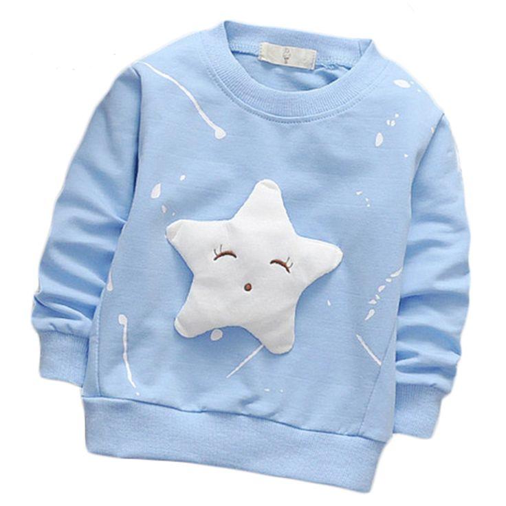 2017 primavera niño niña niños ropa de algodón de manga larga Del O cuello lindo de la estrella de dibujos animados de moda casual al aire libre Camiseta el envío libre en Camisetas de La madre y Los Niños en AliExpress.com | Alibaba Group