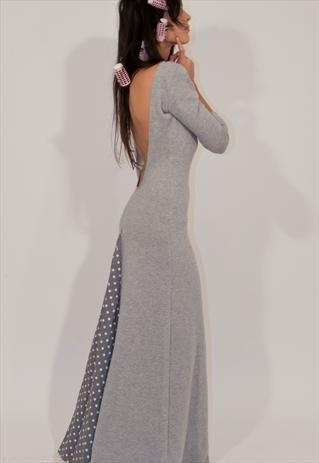 Shop dress here:  https://marketplace.asos.com/listing/dresses/greyspotty-dress/571988
