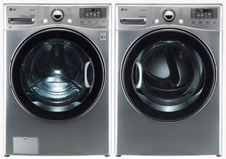 Upgrade your #laundry room this summer with a refurbished LG washer and dryer set.