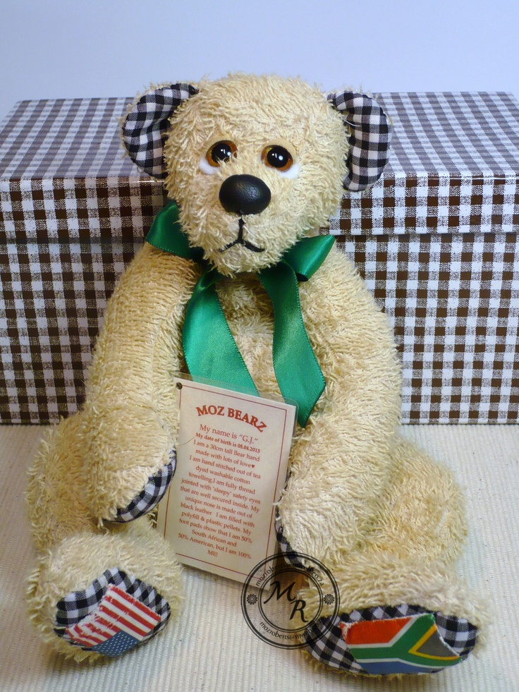 G.J. - all towelling bear. Made for a baby in the USA