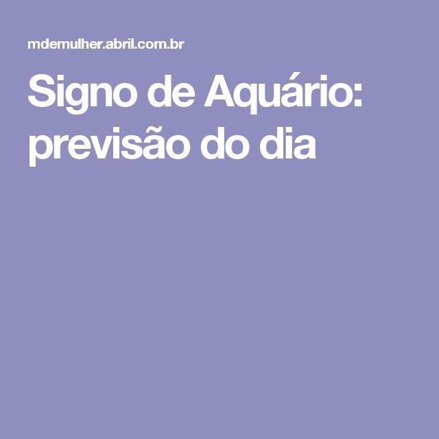 Signo de Aquário: previsão do dia