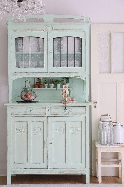 Vintage Buffets - Buffet, Küchenbuffet, antiker Küchenschrank - ein Designerstück von bleuetrose bei DaWanda
