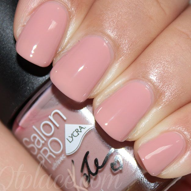 RIMMEL LONDON KATE Salon Pro Nail Lacquer in 'Soul Session'. A nice beige/mauve creme that stays shiny  for days . Easy open cap and precise brush makes application drama free. $2.49 at WalMart.