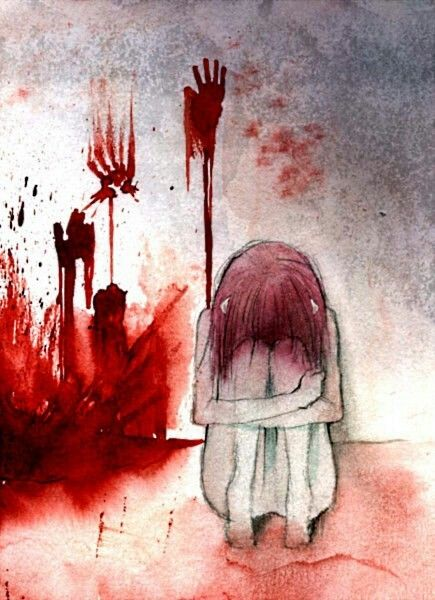 Anime art. Lucy. Elfen Lied. This makes me very very very sad. Very sad