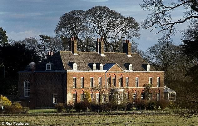 Pictured: Anmer Hall, on the Sandringham estate, where Prince William has lived during his time at the charity
