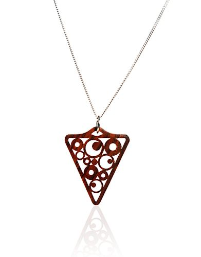 Wood Necklace with Premium Cocobolo and Silver