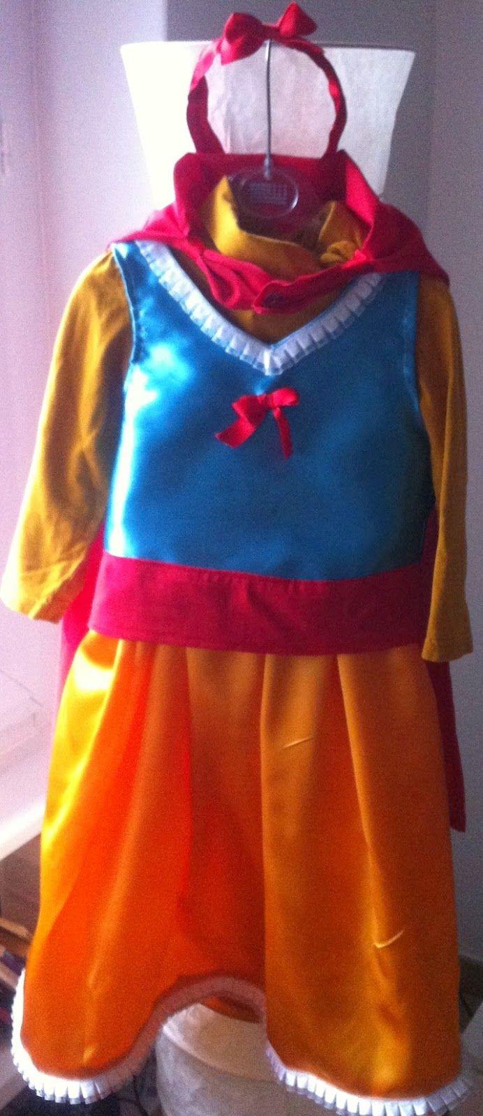 4fb934bf7fb1 Mangia Leggi Crea: Carnevale: vestito di Biancaneve fai da te facile ...