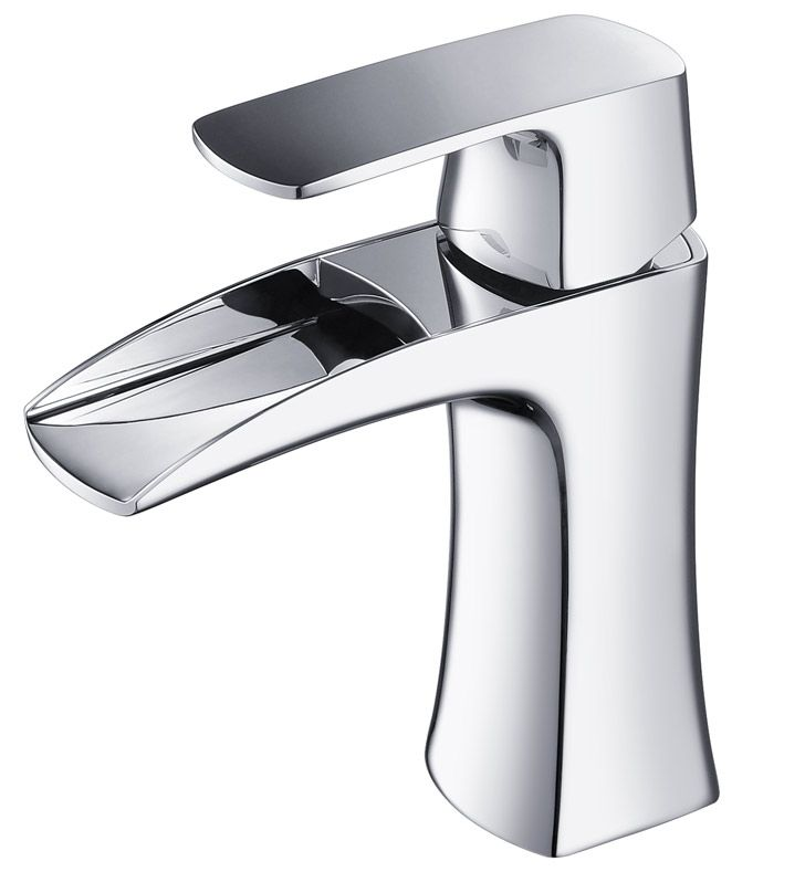 Photographic Gallery Fresca Fortore Single Hole Bathroom Vanity Faucet in Chrome