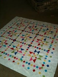 Cute, bright quilt. Love the borders