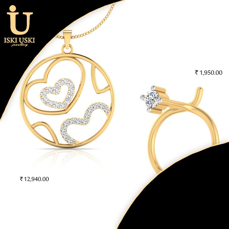 Find great deals on all Gold and Diamond Jewellery!!   #DiamondRings #DiamondPendants #DiamondEarring #DiamondJewellery #indianjewellery #IskiUski